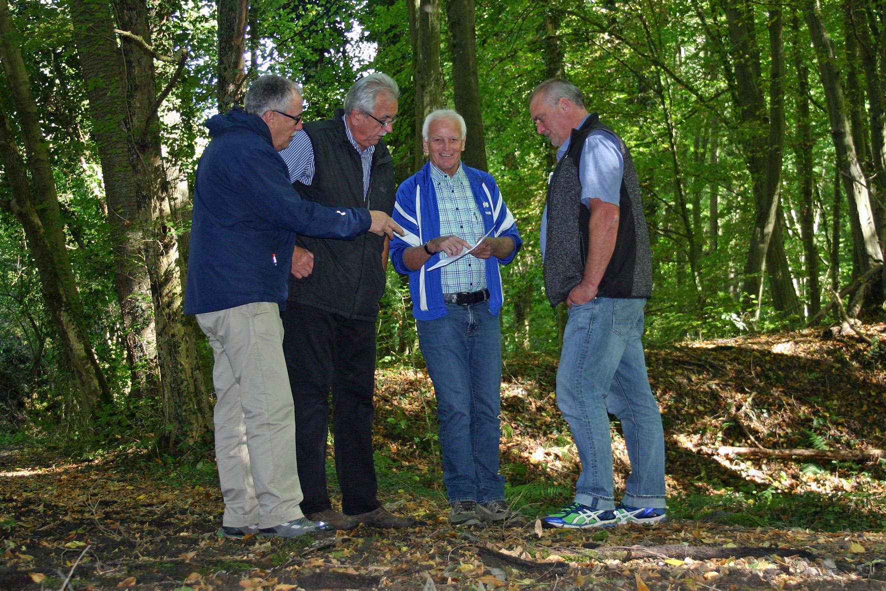 Ortsbesichtigung der FBL Remagen zum Hochwasserschutzkonzept in Unkelbach