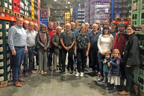 25 interessierte FBL Mitglieder trafen sich zu einer Betriebsbesichtigung bei der Firma Trinkkontor in Remagen.